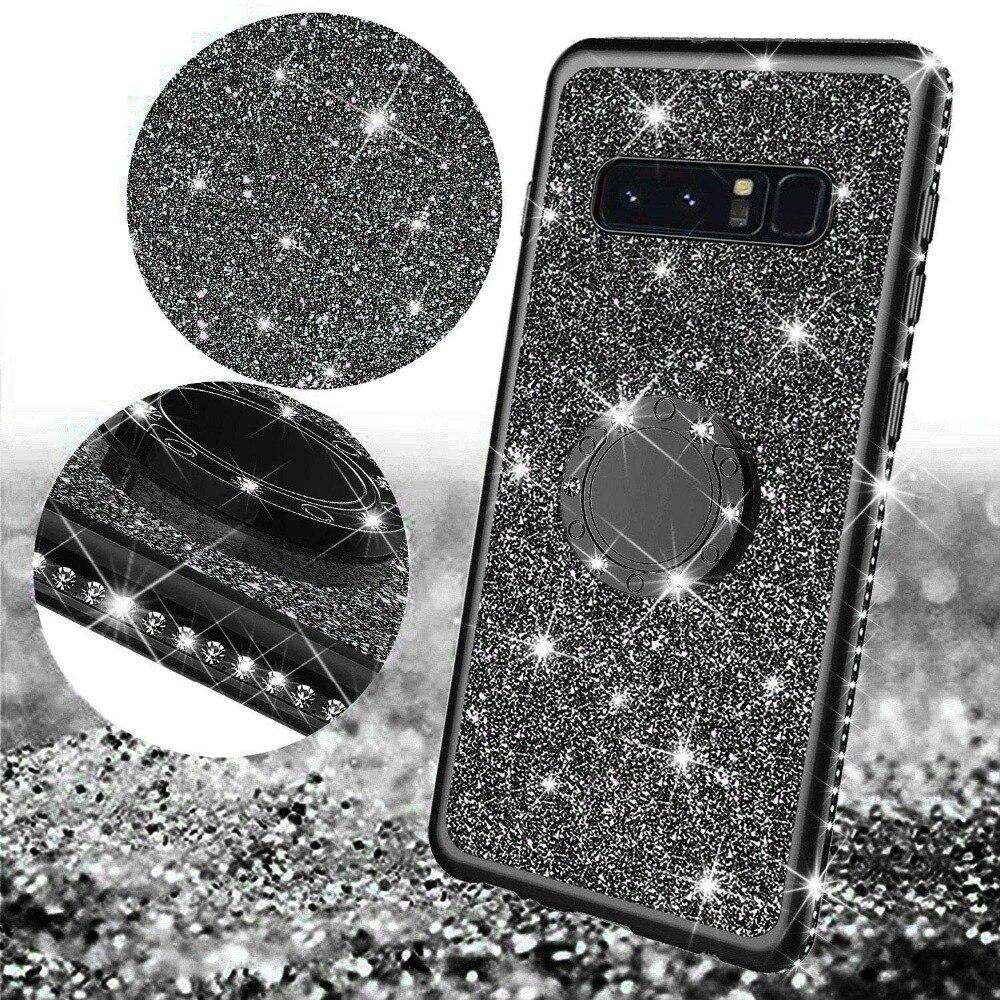 Diamond Case for Samsung Galaxy S10 Plus S10E S7 Edge S8 S9 Note 9 8 Cover For Samsung A6 A8 Plus A7 J7 2018 Glitter Bumper Case (3)