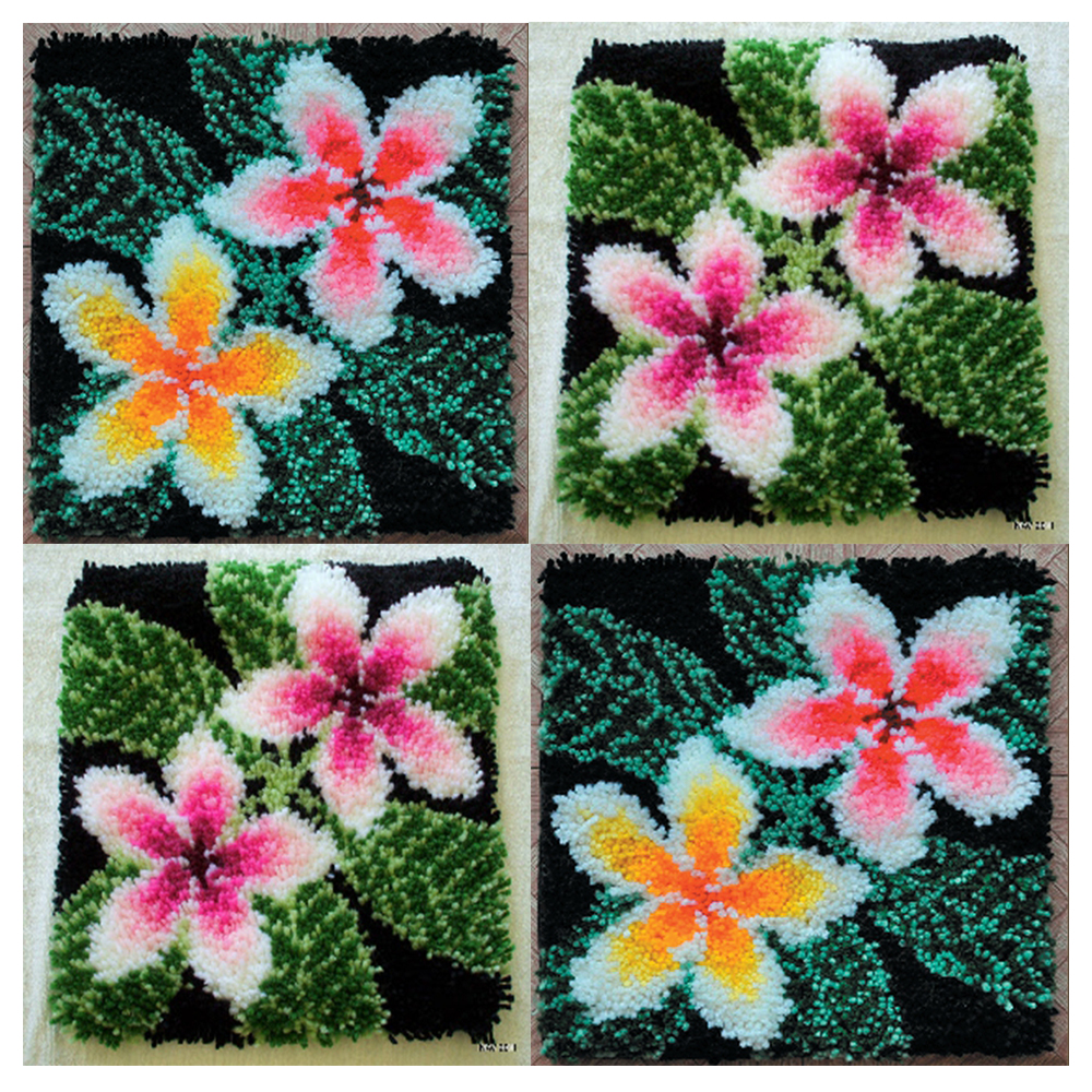 Flowers carpet embroidery cushions cross stitch pillow do it yourself needlework button package latch hook rugs button carpet(China)