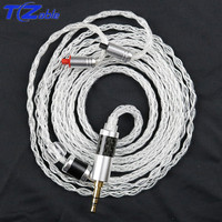 Audio Cable Headphones Upgrade wire For IM pin im50 im70 im01 im02 im03 im04 Single Crystal Copper Plated Silver Headset Cable