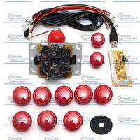 Arcade Parts Bundles Kits With Locking Round Buttons Joystick 1 Player USB Encoder Board Adapter To