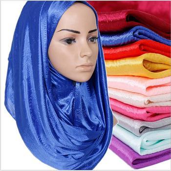 Metallic Scarves Solid color Crinkle Head scarf Arab pleated cashew floral shawls muslim Hjiab wrinkle wraps stretchy headband high quality women 100% rayon crinkle scarf cotton wrinkle muslim hijab wraps headband long scarves 18 colors 180 95cm