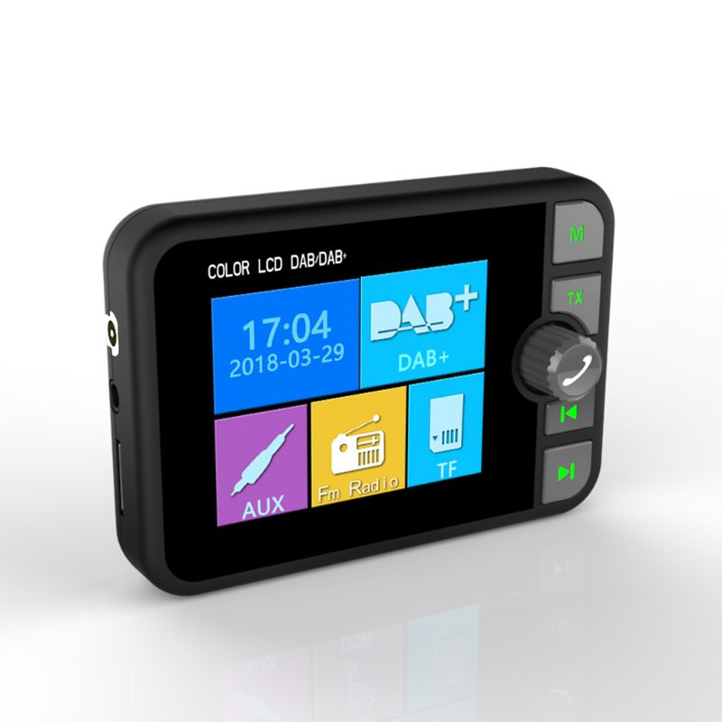 Écran LCD coloré Bluetooth MP3 FM transmetteur Mini DAB adaptateur récepteur Radio numérique pour accessoires de voiture