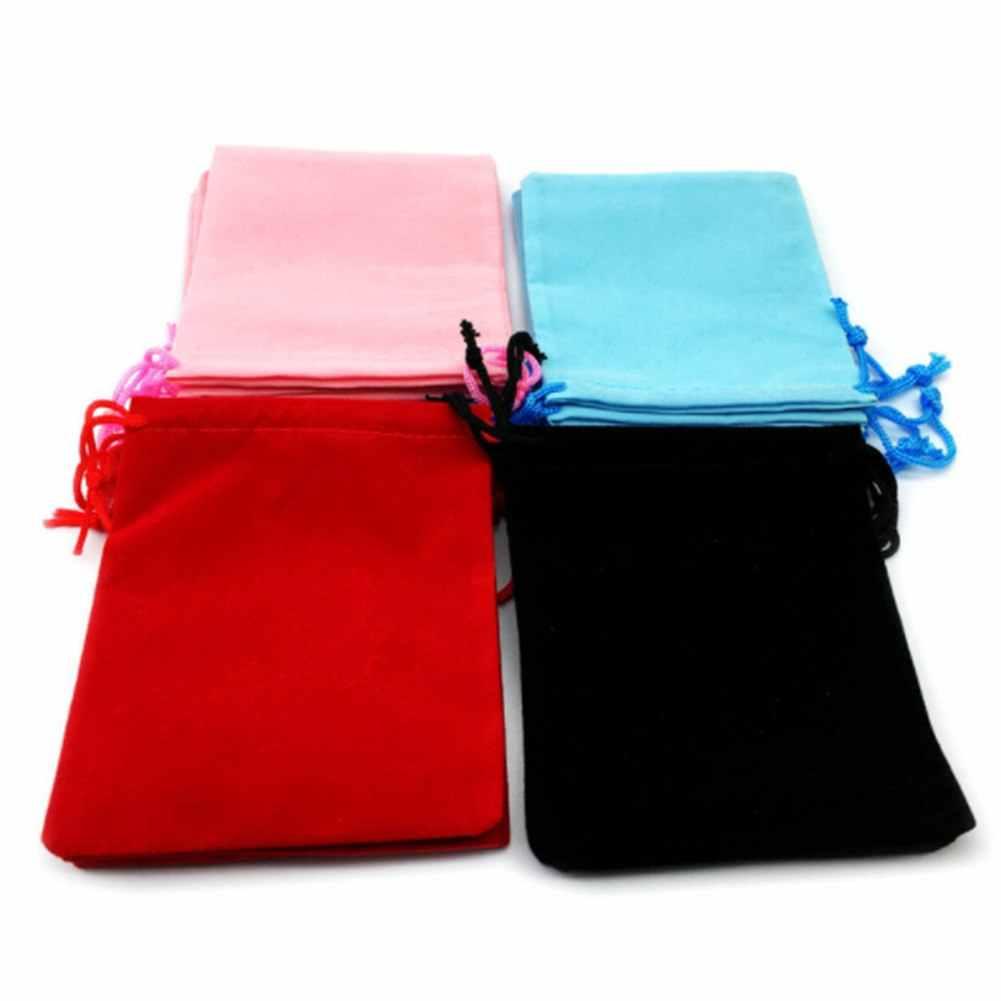 De Embalagem de jóias Sacos de Embalagem Saco De Veludo Com Cordão de Casamento Sacos de Armazenamento Presente De Natal