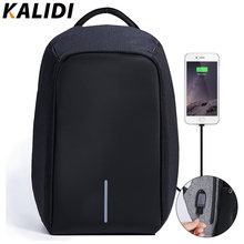 bc59c7d4f1e KALIDI 15-17 inch Waterdichte Laptop Tas Mannen Notebook schooltas 15.6  inch Laptop Rugzak USB