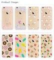 """Caja del teléfono Para iPhone6 4 .. 7 """"Ultra Thin Tpu Transparente Lindo del plátano de Dibujos Animados teléfono Móvil Caso Protector de la Cáscara de Gel de Silicona"""