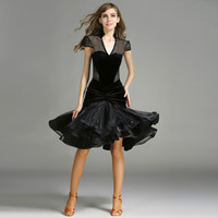 Red Black Latin Dance Dress Women Dance Dress For Girls Tango Dress Samba Dance Costumes