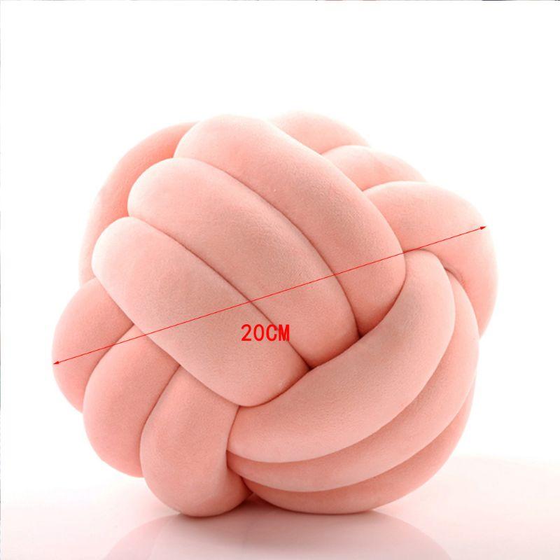 HTB12MWgXG67gK0jSZFHq6y9jVXaL Soft Knot Ball Cushions Bed Stuffed Pillow Home Decor Cushion Ball Plush Throw