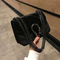 2018 Plaid Quilted Chain Fashion Velvet Women Leather Handbags Day Clutch Women's Bag Small Shoulder Bag Women Messenger Bags
