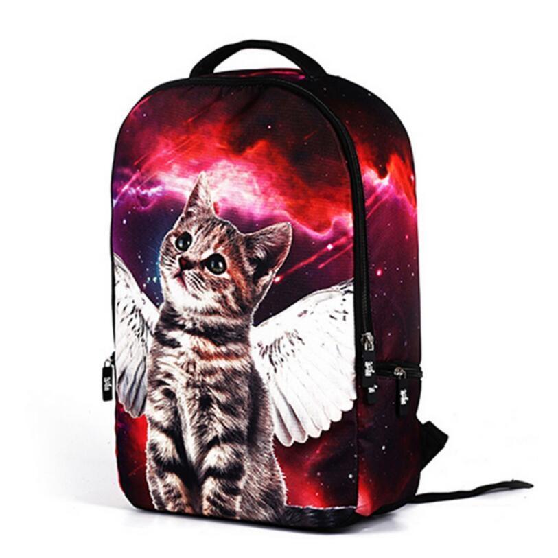 2018 cute 3d print cat bag girl school backpack child bagpack women travel backpack for laptop back pack kids cartoon school bag
