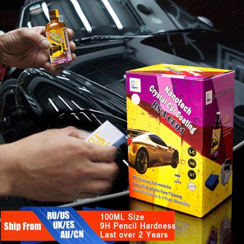 9 H жидкая Стекло Nano Керамика покрытия автомобиля супер гидрофобные Стекло покрытие автомобиля Воск ultra shine защиты от Micro scatches ...