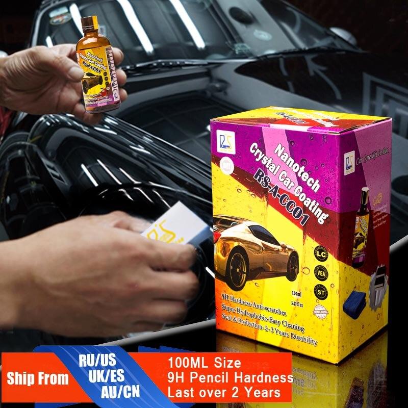 9 H Vetro Liquido Nano Ceramica Rivestimento Auto Super-Idrofobica Vetro Auto Rivestimento di Cera Ultra Lustro Proteggere Contro Micro Scatches