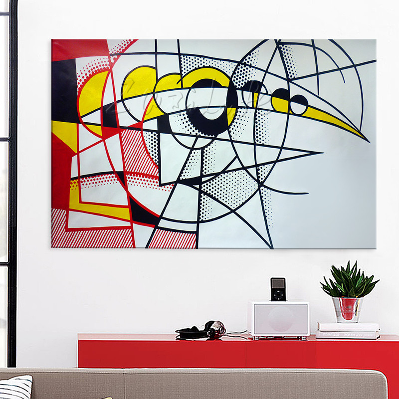 Roy Lichtenstein painting Pop Art on canvas Hand-painted Wall Pictures for living Room Decor Andy Warhol Eclipse of the sun