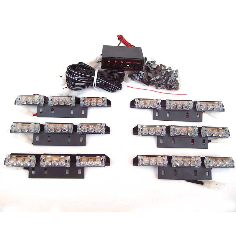 Warning Blinking Strobe Flash   Light/Lightbar Deck Dash Grille LED EMERGENCY STROBE   LIGHTS 3 Mode 12V