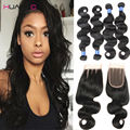 Grade 8A Peruvian Body Wave With Closure Peruvian Virgin Hair Body Wave With Closure Cheap Peruvian Hair Body Wave With Closure