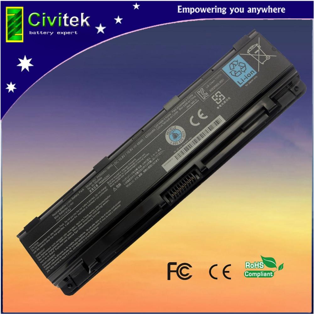 Toshiba C40 C45 C50 արբանյակային C55 C70 C75 PA5108U-1BRS PA5109U-1BRS PA5110U-1BRS նոութբուքի մարտկոց