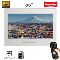Souria 55 inch Magic Mirror Waterproof LED TV with Big Screen Display Wall Mount TV (ATSC/DVB T/DVB T2/C)