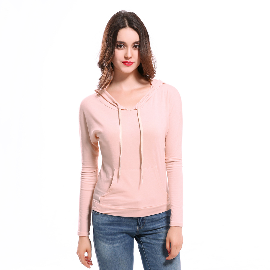 2017 new autumn and winter candy-colored Sweatshirt Women Casual long-sleeved hoodie pocket decorative fashion pullover TOPS