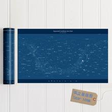 Night Sky Constellations Star Map Decorative paintings Chart Poster for home decoration