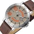 Qualidade Casual Marca Gunuine Couro Dos Homens Do Exército de Quartzo Sports Relógios Relogio masculino Relógio Com Interessante Figura Sorriso Dial