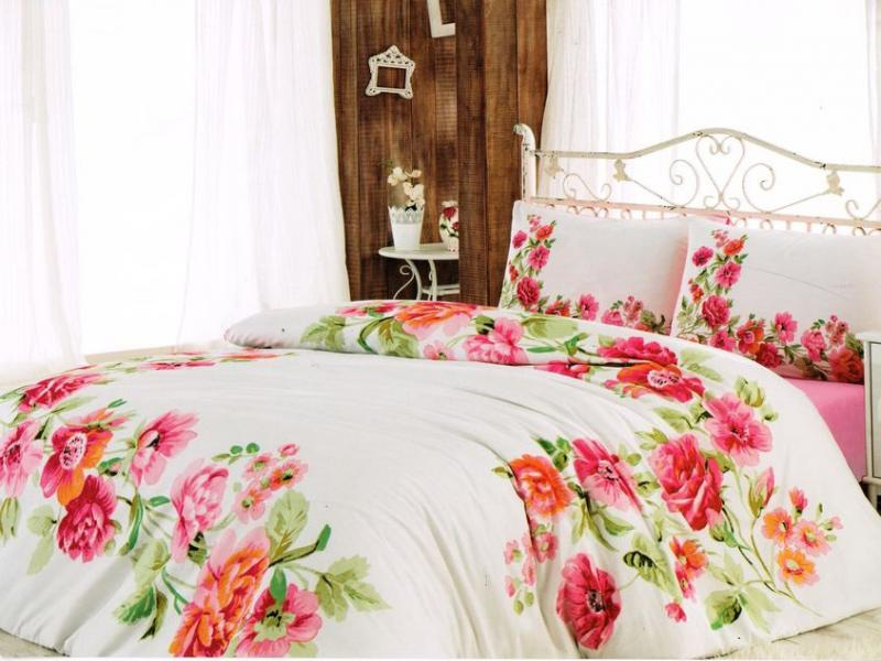 Bedding Set double-euro cottonbox, Fixe Line, White цена