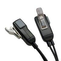 מכשיר הקשר 2pcs מיקרופון אפרכסת מכשיר הקשר Headset לקבלת Kenwood במשך Baofeng רדיו התקנים 2Pin (4)