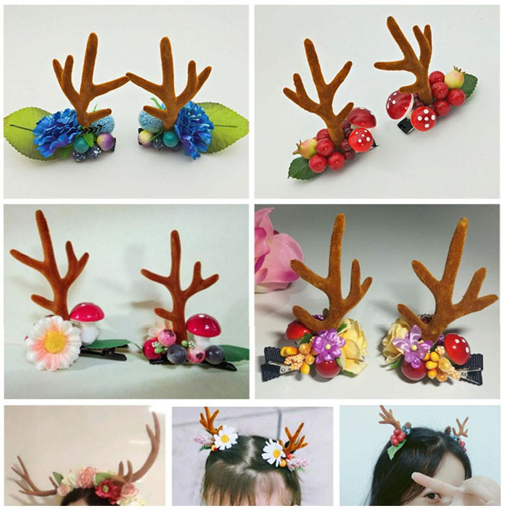 Christmas Headband Craft.Us 1 33 33 Off 1 Pair Headbands For Women Girls Gift Christmas Decorations Festive Party Supplies Fashion Deer Antlers Women Hair Headband In