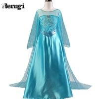 New 2016 Baby Girls Summer Princess Party Dress Vetidos Children Kids Elsa Anna Cosplay Dresses Fashion