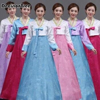 bd66101e5 Verano de 2019 tradicional hanbok coreano vestidos trajes asia ropa  tradicional de las mujeres vestidos de ropa vestidos de noche cantante