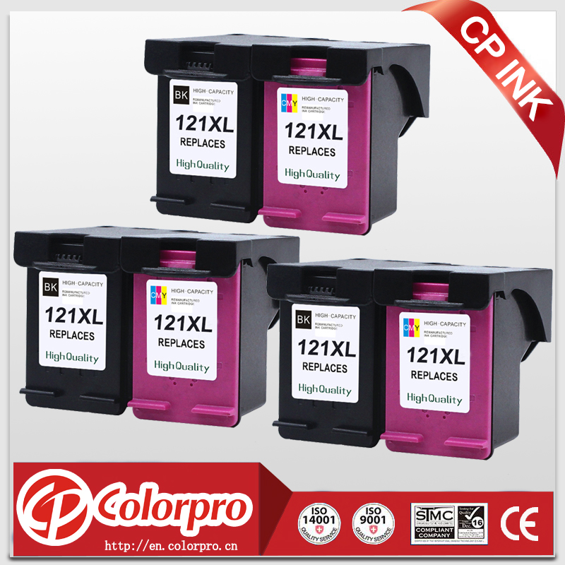 CP <font><b>121</b></font> for HP121 121XL Ink Cartridge for <font><b>HP</b></font> Deskjet D2563 1050 2050 2050s F2423 F2430 F2476 F2480 F2483 F4283 F4583 (3BK/3C) image