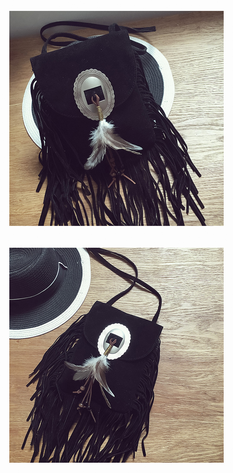 Female Small suede Bag Brown Beaded Feathers Hippie American Indian Tribal Bohemian Boho Chic Ibiza Style Pouch Bag (7)