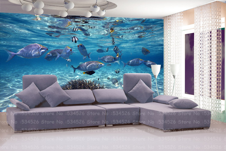 Large 3d environmental mural papel de parede pvc wall for Wallpaper sheets for walls