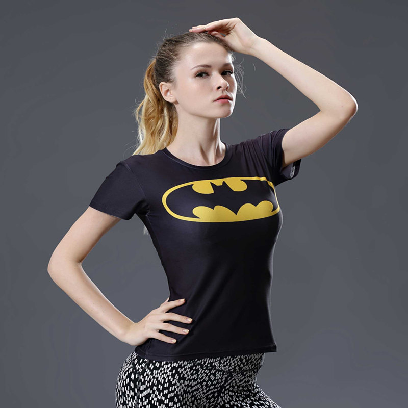 2017 Marvel Captain America Super Hero compression Civil War Tee 3D Printed T-shirts Women fitness Clothing T shirt large size