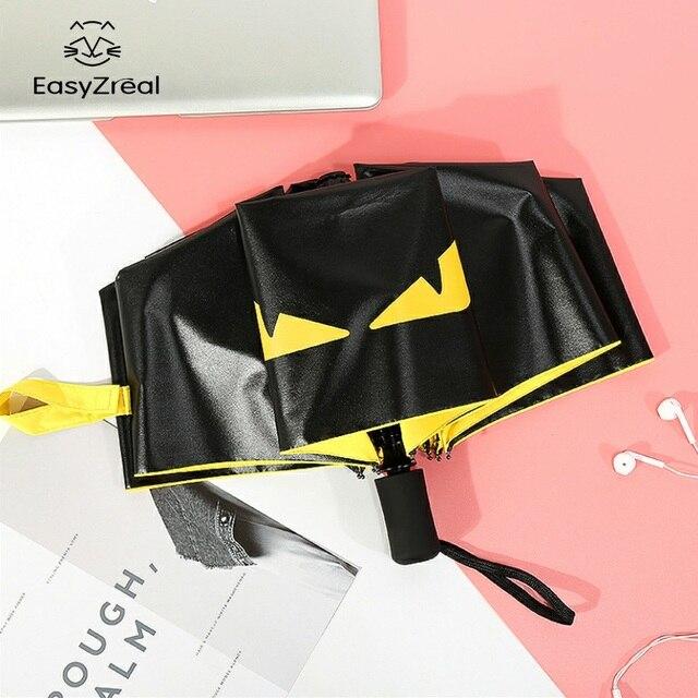 Творческий черное покрытие 3 раза УФ для женщин мужчин не автоматический бизнес Ветрозащитный зонты мужской модный зонтик от солнца подарки для Детей paraguas