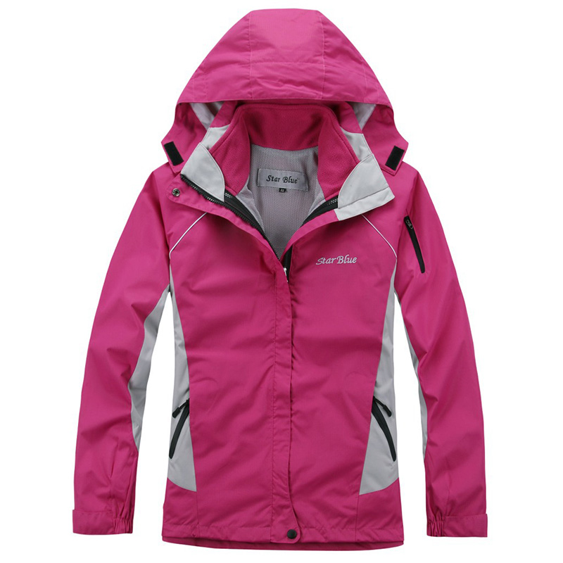 Autumn winter outdoor female Waterproof fleece Two pieces warm breathable camping outdoor women hiking Jackets coat