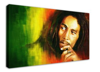 WK-M026 (509) BOB MARLEY Canvas Stretched Wood Framed 18x12inch Poster