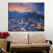 DIY Oil Painting By Numbers Coloring Building Scenery Landscape Canvas Digital Pictures HandPainted Home Decor Wall Artwork