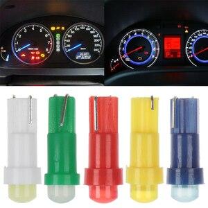 10Pcs T5 COB 1LED 12V Wedge Car Interior Bulbs Car Dashboard Gauge Instrument Lights Bulbs(China)