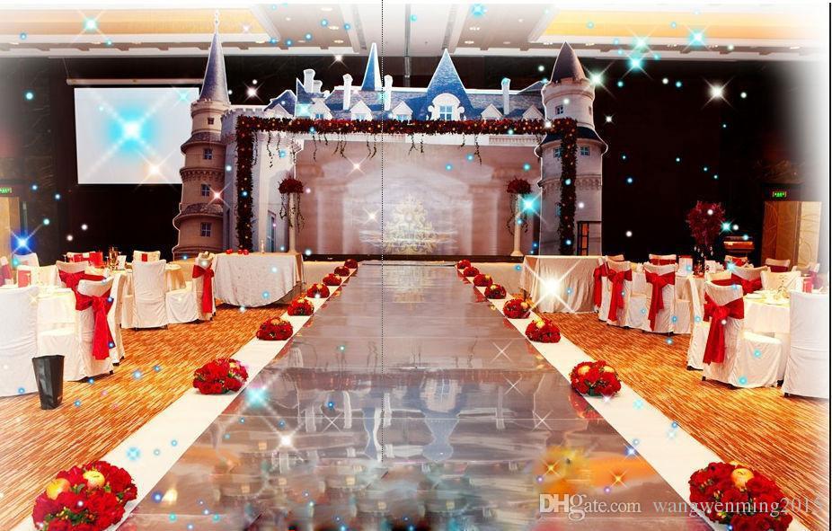 Luxus Dekor Gold Silber doppelseitige Spiegel Teppich Gang Läufer - Partyartikel und Dekoration - Foto 6