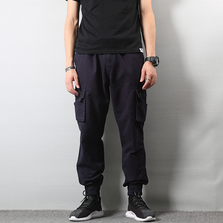 Japanese Style Fashion Men Jeans Vintage Black Color Loose Fit Cargo Pants hombre American Streetwear Hip Hop Joggers Jeans Men in Jeans from Men 39 s Clothing