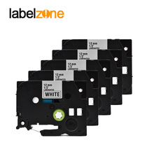 12mm*8m Compatible for Brother Tze 231 tze231 Label Tape Laminated ribbon cassette Tze-231 Black on white p-touch printers