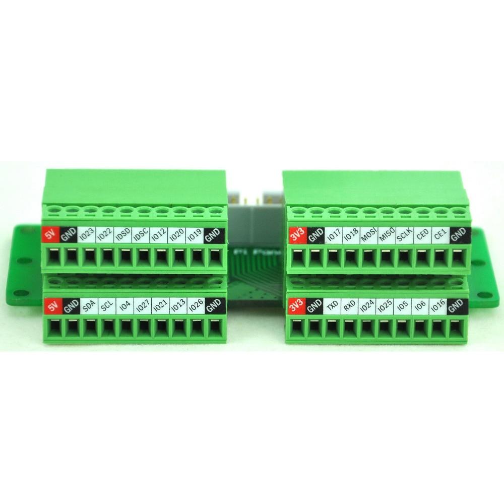 Pi Panel Mount Pluggable Terminal Block Breakout Module  for Raspberry Pi.|terminal block|terminal block pluggable|panel mount terminal block - title=