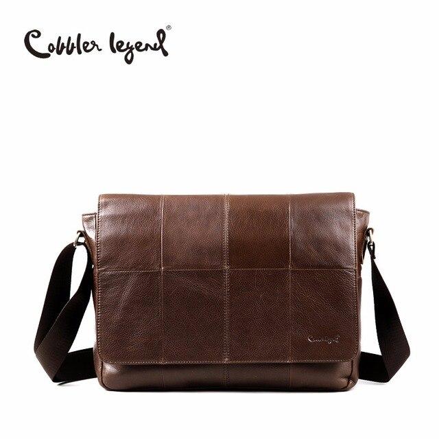 339c5dbd274 Cobbler Legend Brand 2018 Genuine Leather Bag Men Vintage Shoulder  Crossbody Bag Designer Male Handbags For Men High Quality