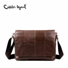 Cobbler Legend Brand 2017 Genuine Leather Bag Men Vintage Shoulder Crossbody Bag Designer Male Handbags For Men High Quality
