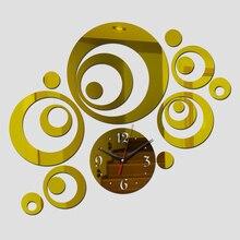 New Wall Clock Horloge Modern Design Reloj De Pared Large Decorative Digital Watch Living Room 3d Diy Acrylic Mirror