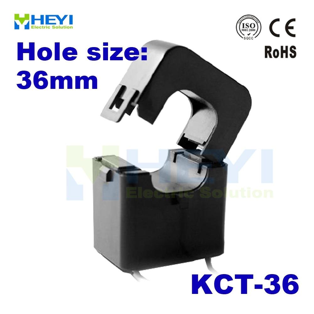bracadeira do sensor kct 36 da corrente da c a do transformador atual do nucleo rachado