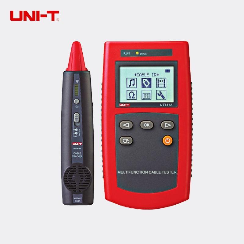 UNI-T UT681A Multi-Função Localizador de Cabo Conjunto Rede Testador de Cabo Testador Instrumento Dispositivo de Linha de Verificação