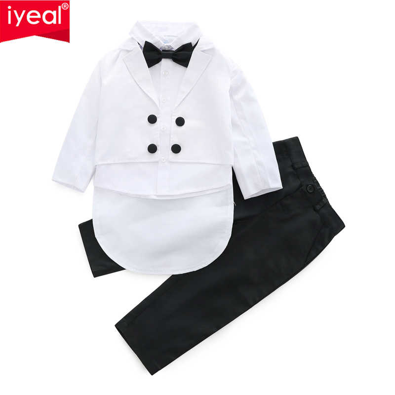 395be0997 IYEAL Baby Boys Suits 3 Pieces/Set Formal Tuxedo Suit Baby Boy Baptism  Christening Gown