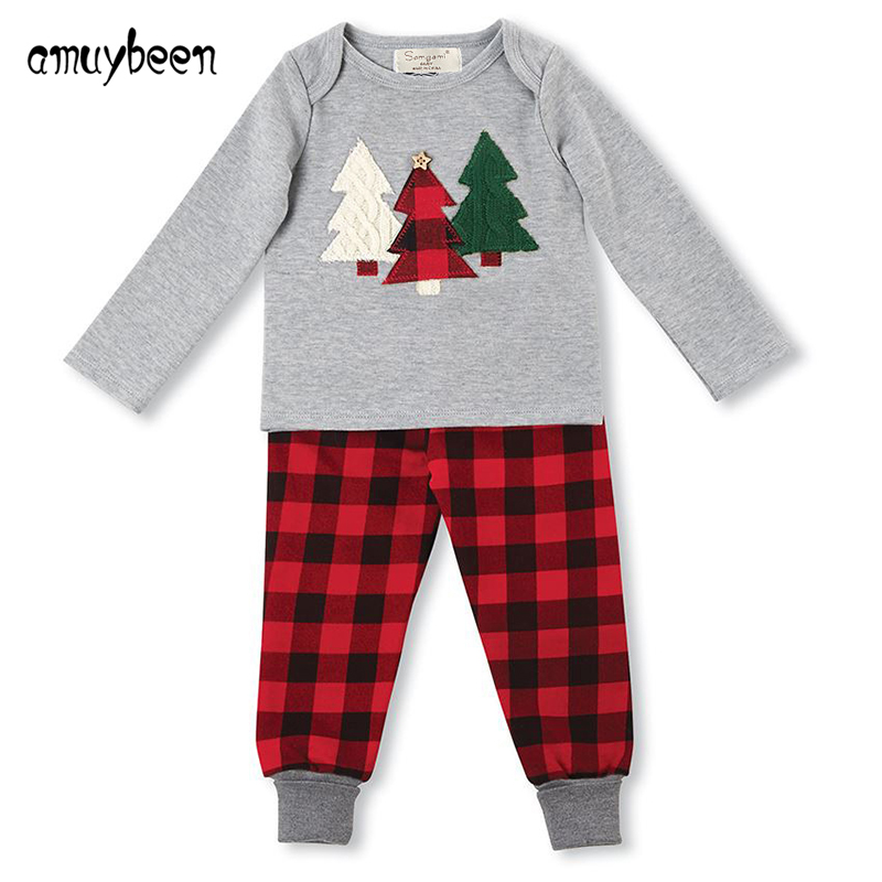 Amuybeen Boys Clothing Sets 2017 New Kids Christmas Shirts Children's Sports Long Sleeve Cute Suit Thanksgiving Outfit 2-7 Years 2015 new arrive super league christmas outfit pajamas for boys kids children suit st 004
