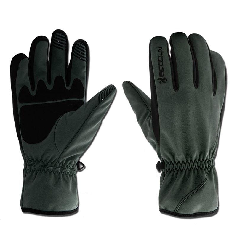 Dark green Boodun Unisex Winter Waterproof Skiing Snowboard Glove Motorcycle Riding Gloves Outdoor Sport Gloves