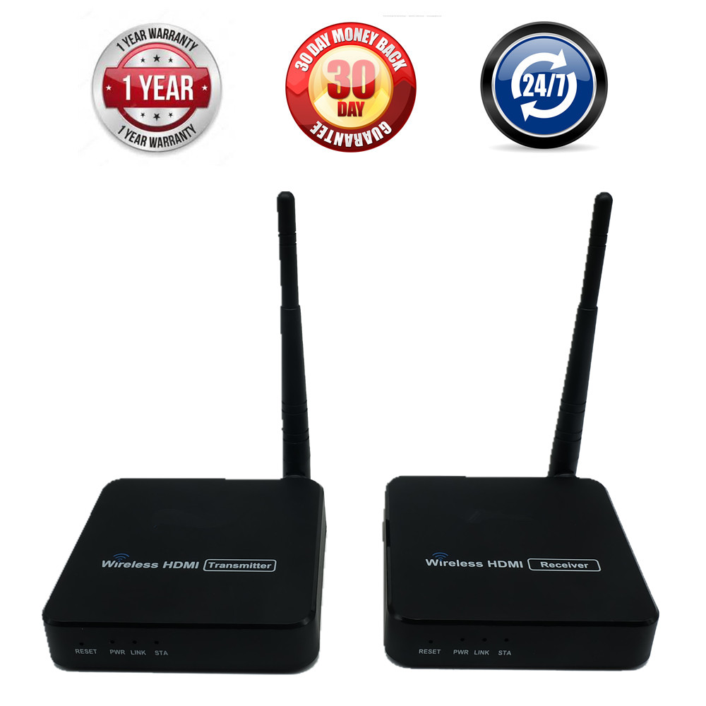 100m WIFI Antenna Wireless HDMI Transmitter Extender Support IR Control Wireless HDMI Video Transmission ( Sender + Receiver ) hdmi over single 100m 328ft extender coaxial ir wireless hdmi transmitter receiver support hdmi 1 3 hdcp1 1